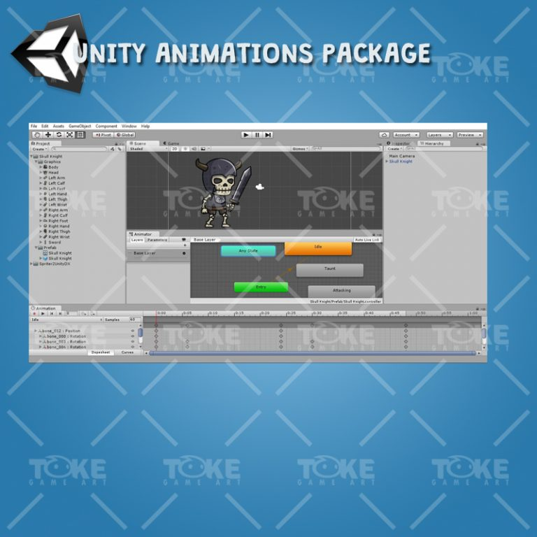 Skull Knight - Unity Animation Ready