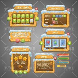 Snowy Game UI