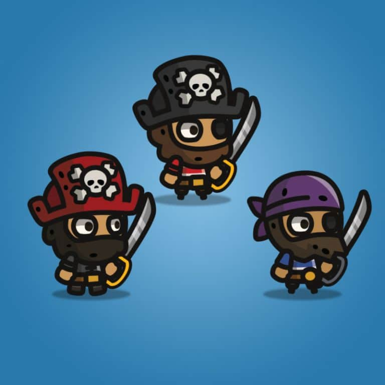 Tiny Character Style - Pirate - 2D Character Sprite