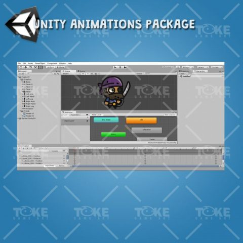 Tiny Character Style - Pirate - Unity Animation Ready
