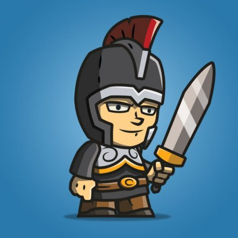 tiny knight - 2d character sprite