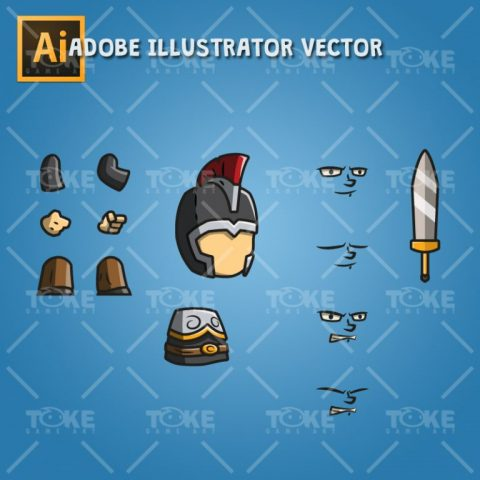 Tiny Knight - Adobe Illustrator Vector Art Based