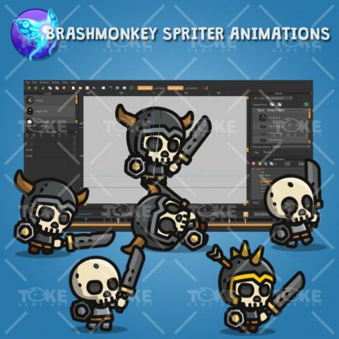 Tiny Style Character Skull - Brashmonkey Spriter Animations