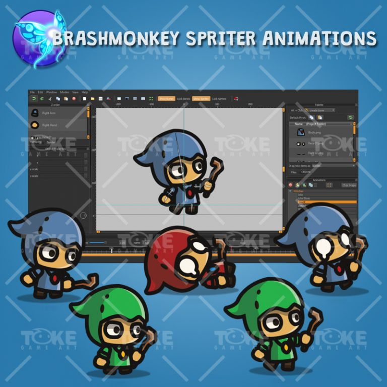 Tiny Style Character - Witcher - Brashmonkey Spriter Animation