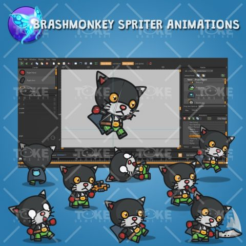 Super Black Cat - Brashmonkey Spriter Animation