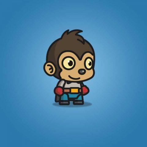 Super Monkey - 2D Character Sprite