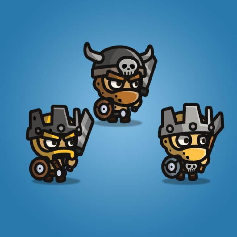 Tiny Style Character - Barbarian - 2D Character Sprite