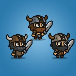 Tiny Viking - Tiny Style Character - 2D Character Sprite