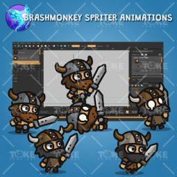 Tiny Viking - Tiny Style Character - Brashmonkey Spriter Animation