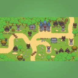 Top-down Forest Tileset - 2D Top-down Game Tileset