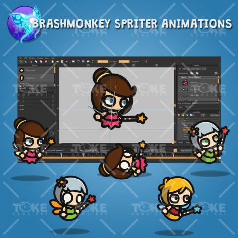 Fairy Tiny Style Character - Brashmonkey Spriter Animation