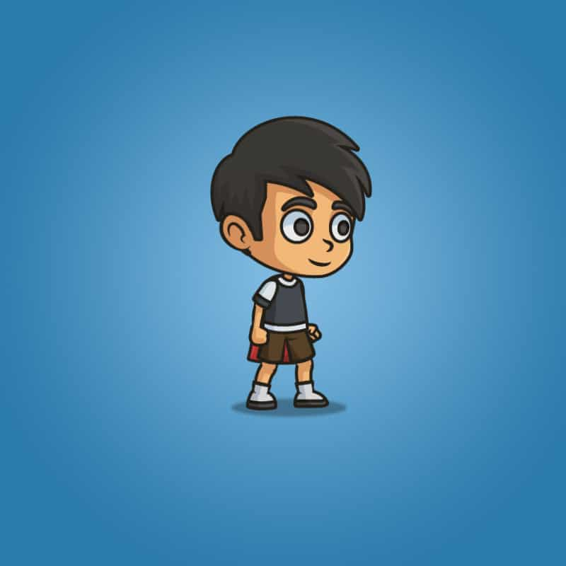 super boy - 2d character sprite - royalty free game asset
