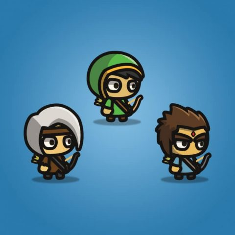 Archer Tiny Style Character - 2D Character Sprite