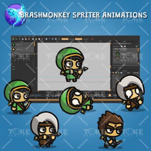 Archer Tiny Style Character - Brashmonkey Spriter Animation