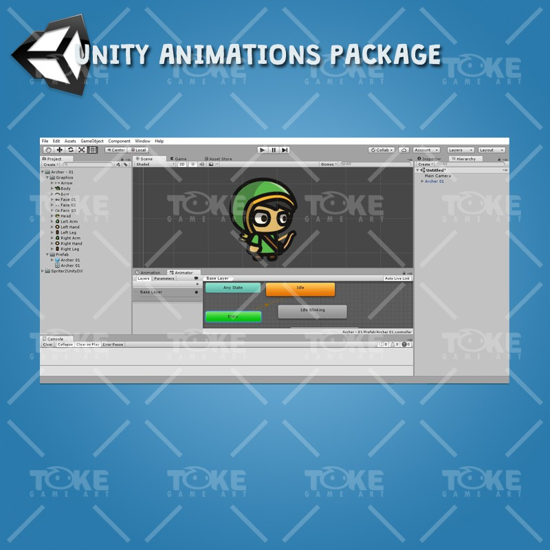 Archer Tiny Style Character - Unity Animation Ready