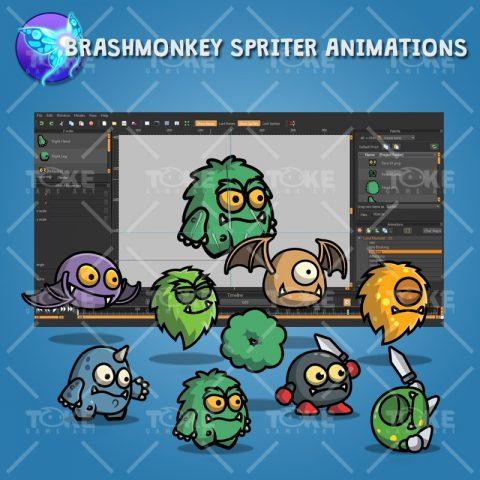 Cartoon Enemy Pack 01 - Brashmonkey Spriter Animation