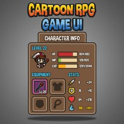 Cartoon RPG UI - Game User Interface