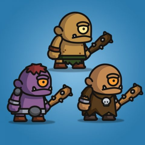 Cyclop Tiny Style Character - 2D Character Sprite