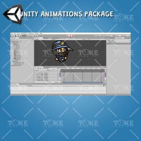 Gold Miner Tiny Style Character - Unity Animation Ready