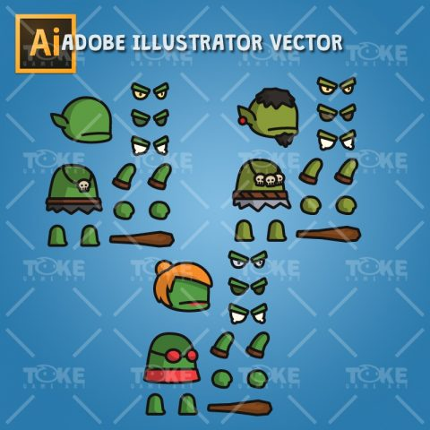 Ogre Tiny Style Character - Adobe Illustrator Vector Art Based