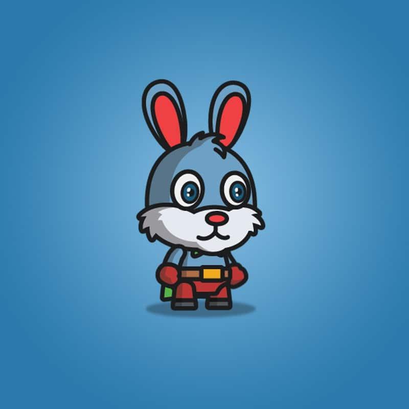 Super Bunny - 2D Character Sprite