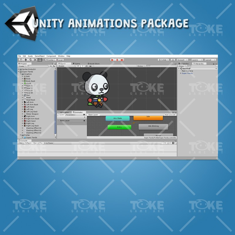 Super Panda - Unity Animation Ready