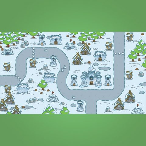 Top-Down Snowy Tileset - 2D Top-Down Game Tileset