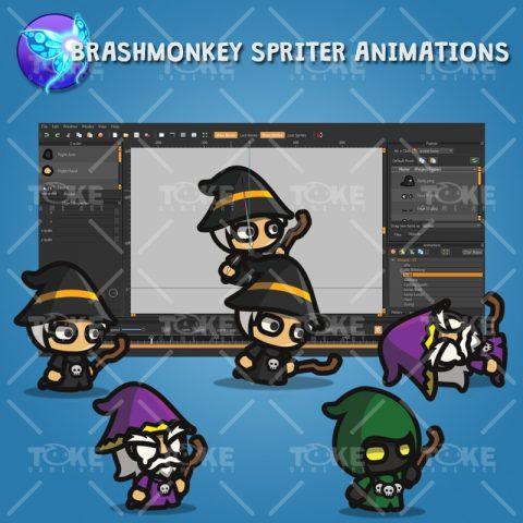 Wizard Tiny Style Character - Brashmonkey Spriter Animation