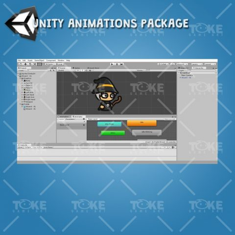 Wizard Tiny Style Character - Unity Animation Ready