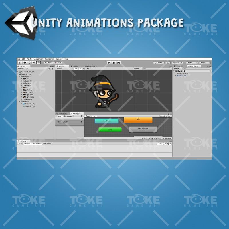 Wizard Tiny Style Character - Unity Animation Ready