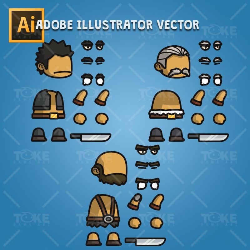 Big Guy - Adobe Illustrator Vector Art Based