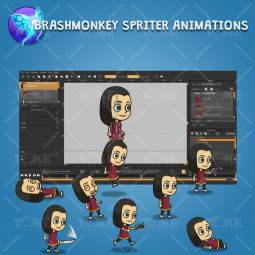 Hero Girl 02 - Brashmonkey Spriter Animation