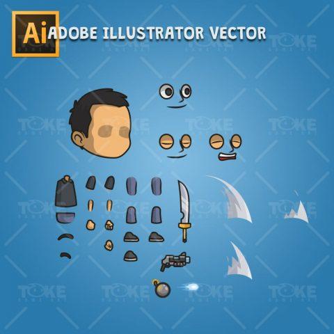 Hero Guy - Adobe Illustrator Vector Art Based