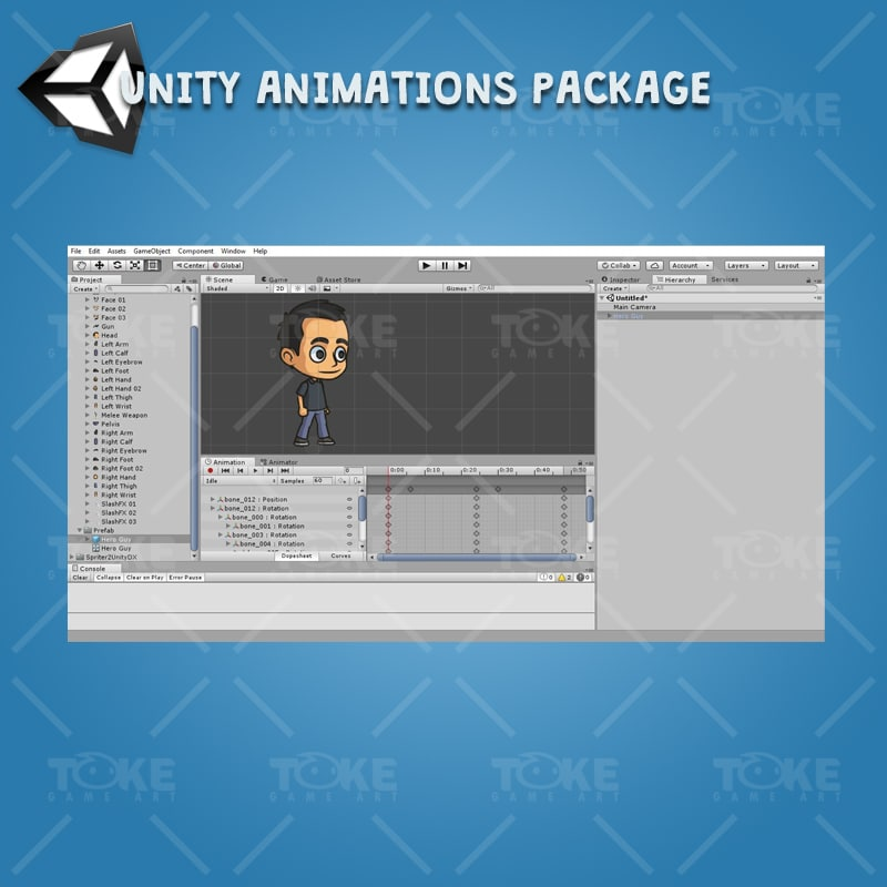Hero Guy - Unity Animation Ready