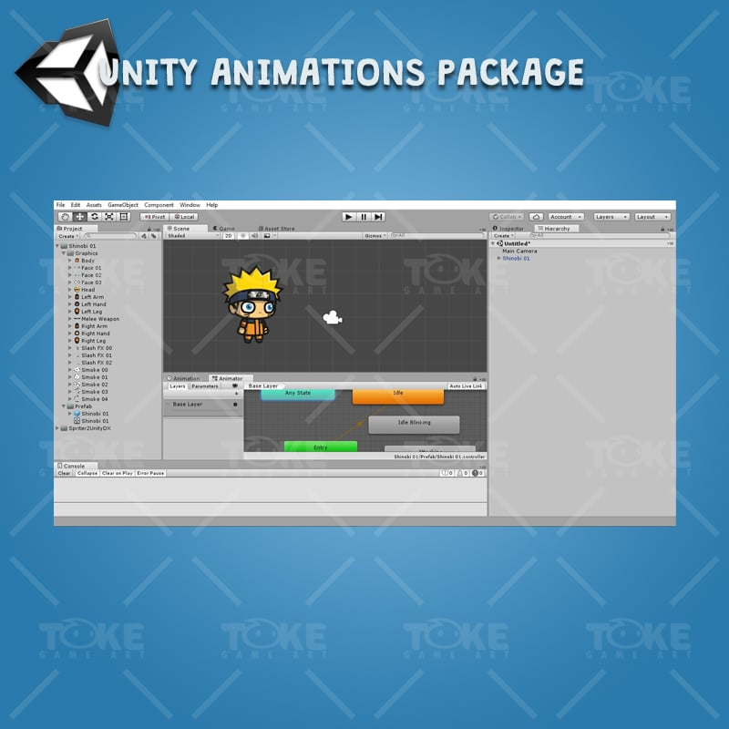 Shinobi 01 (Naruto) - Unity Animation Ready