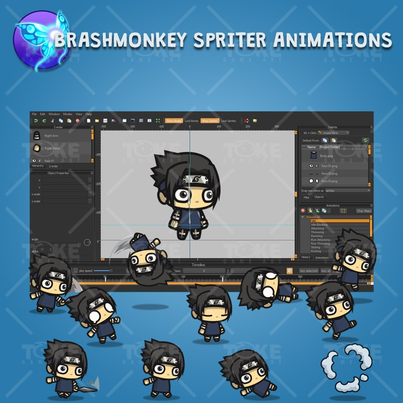 Shinobi 02 - (Uchiha Sasuke) - Brashmonkey Spriter Animation