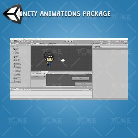 Shinobi 02 - (Uchiha Sasuke) - Unity Animation Ready