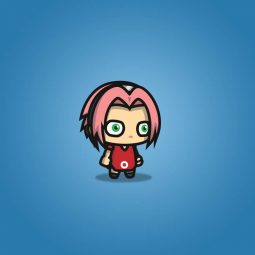 Pinky Hair Shinobi Girl