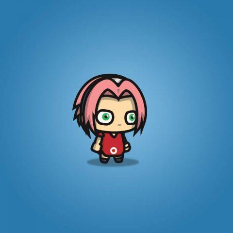 Pinky Hair Shinobi Girl