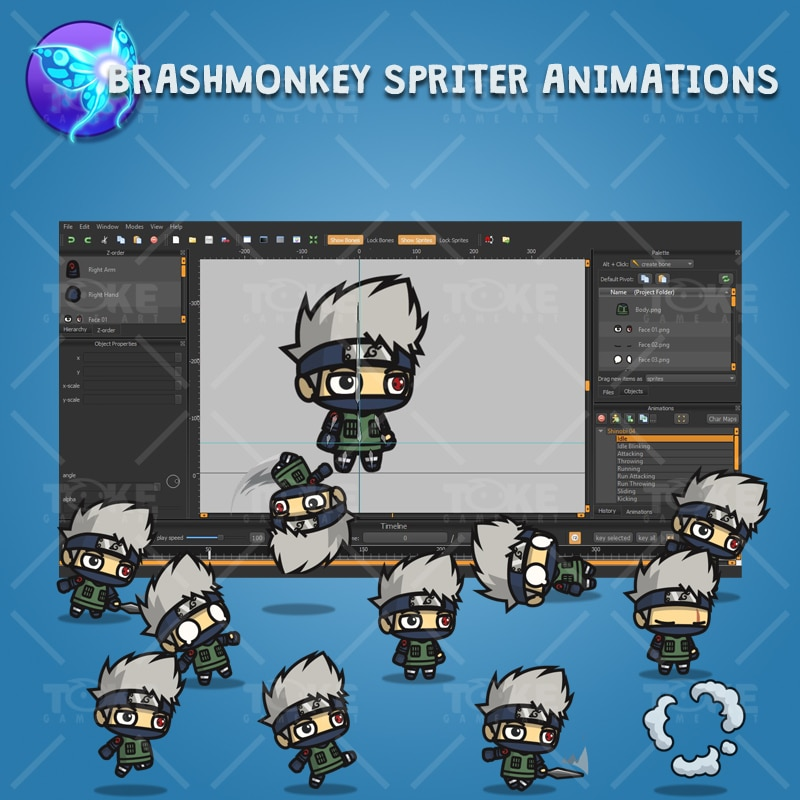 Shinobi 04 - Kakashi Hatake - Brashmonkey Spriter Animation