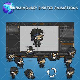 Shinobi 05 - Zabuza - Evil Masked Shinobi - Brashmonkey Spriter Animation