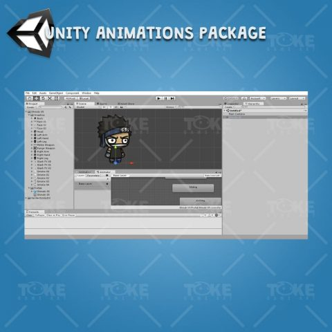Shinobi 05 - Zabuza - Evil Masked Shinobi - Unity Animation Ready