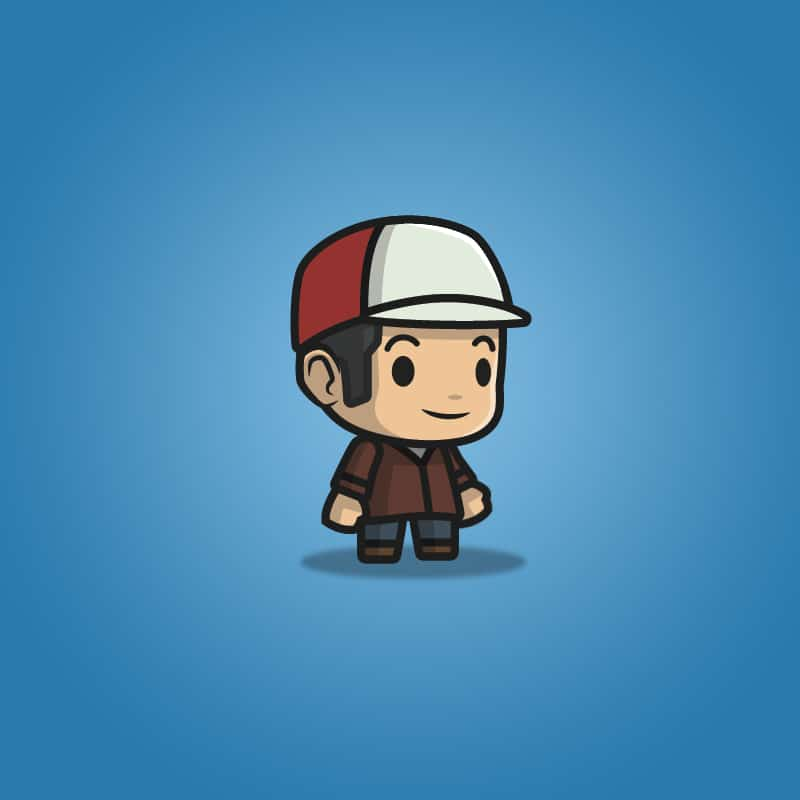 Boy with Hat - 2D Character Sprite