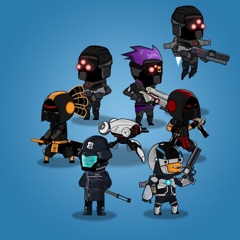 Cyberpunk Character Set