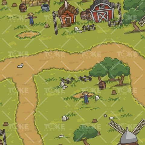 Old Abandoned Farm - 2D Top-down Farm Game Asset