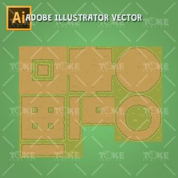 Old Abandoned Farm - Ground Tiles - Adobe Illustrator Vector Art Based