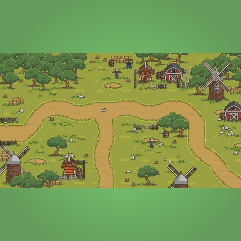 Old Abandoned Farm - Top Down Game Tileset