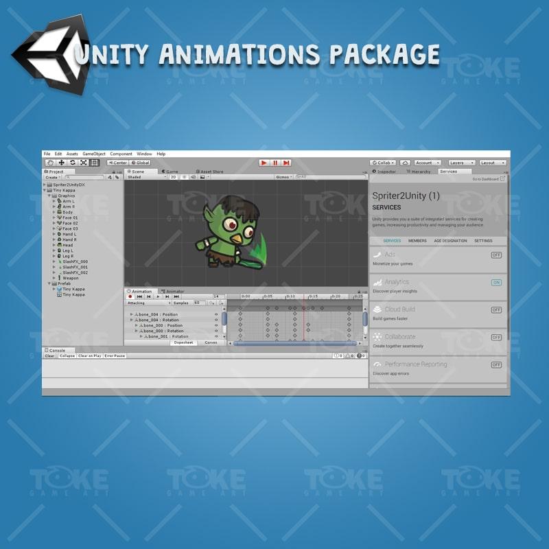 Tiny Kappa - Unity Animation Ready