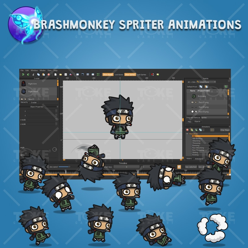 Bearded Shinobi Guy - Brashmonkey Spriter Animation