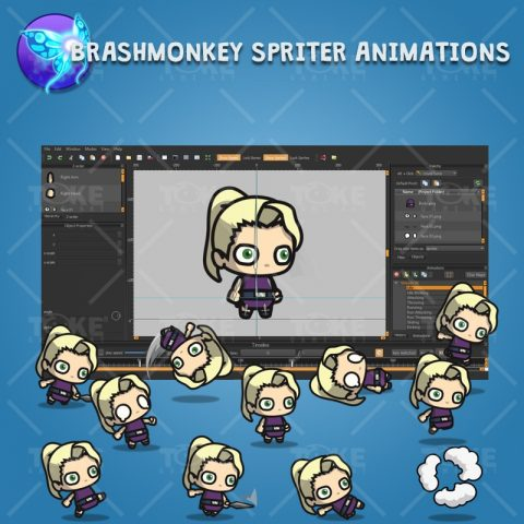 Blonde Shinobi Girl - Brashmonkey Spriter Animation